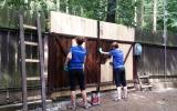 Dobrovolníci pomáhali v zookoutku