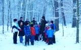 Procházka zasněženým lesem