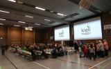 tělocvična a přednáškový sál v základní škole  Pudasjärvi