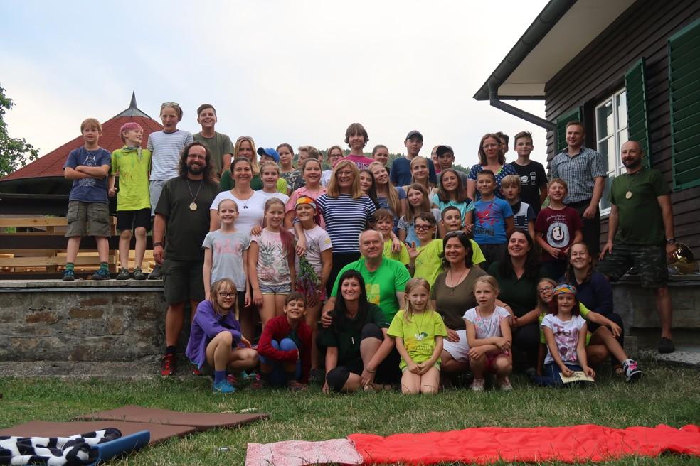 účastníci tábora