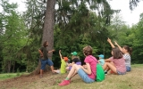 lesní pedagog vykládá o sběru semen stromů