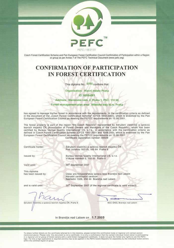 certifikacePEFC