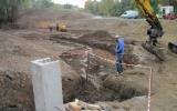 výstavba nového rybníka - stavba požeráku