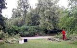 odstraňovali jsme následky přívalových dešťů